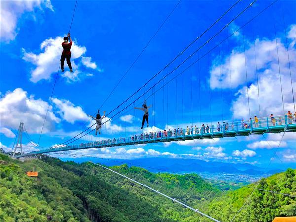 空中散歩が味わえる!日本一長い大吊橋「三島スカイウォーク」