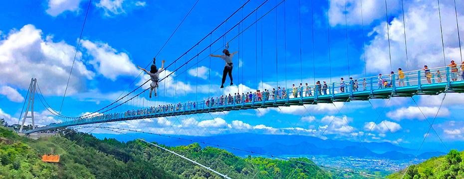 空中散歩が味わえる!日本一長い大吊橋「三島スカイウォーク